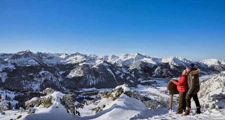 Winterwandern Füssener Jöchle Grän, Tannheimer Tal, Tirol, Österreich