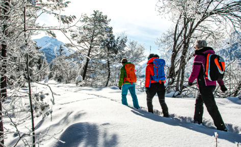 Winterwandern entlang des letzten Wilden